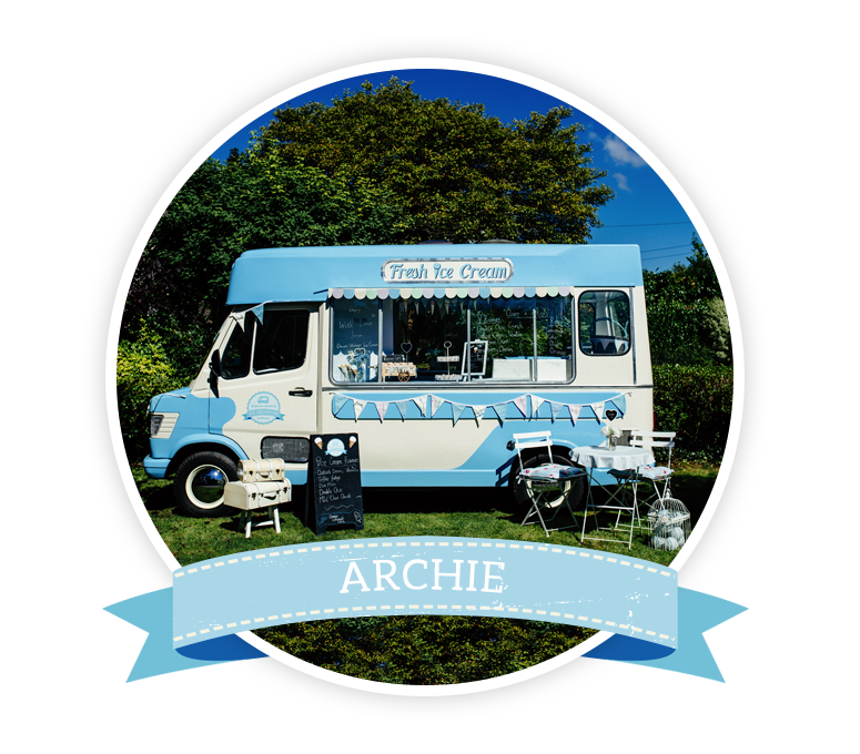 Book Archie the Vintage Ice Cream Van