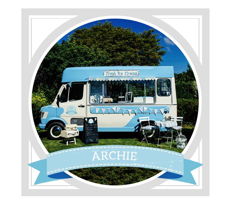Book Archie the Vintage Ice Cream Van